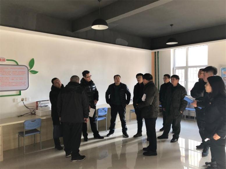 市发改委科长赵树昌一行考察2018年新建智慧厅
