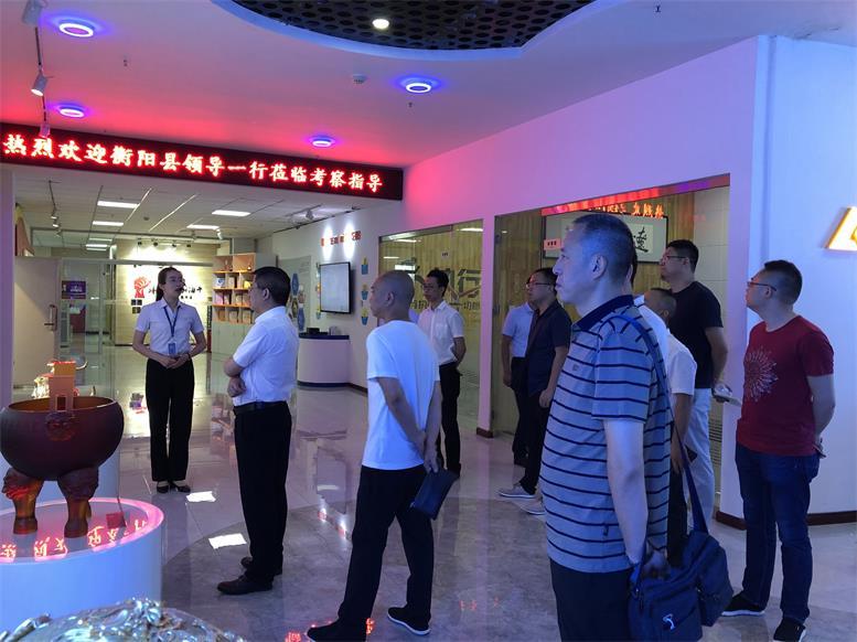 湖南省衡阳县常务副县长王苏龙一行莅临辽联集团考察财源大数据项目